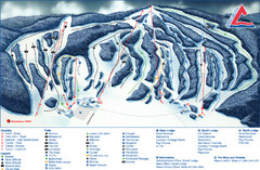 Craigleith Ski Club Ski Trail Map