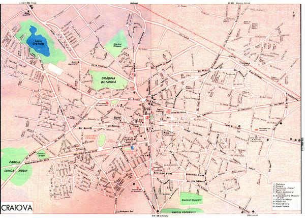 Craiova Tourist Map Craiova Romania mappery