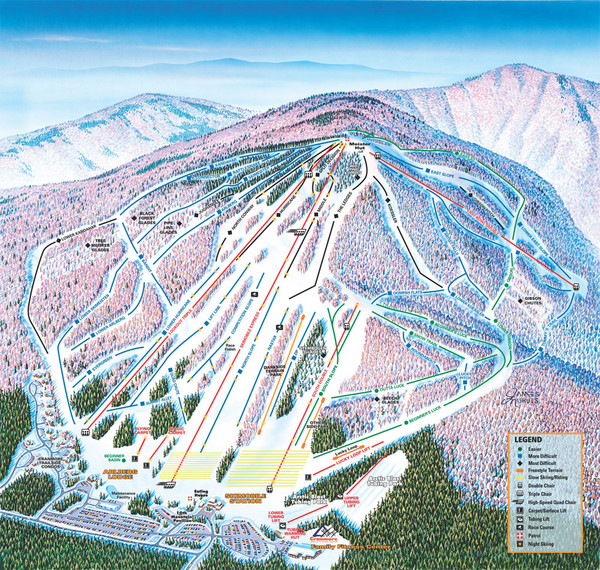 Cranmore Mountain Resort Ski Trail Map