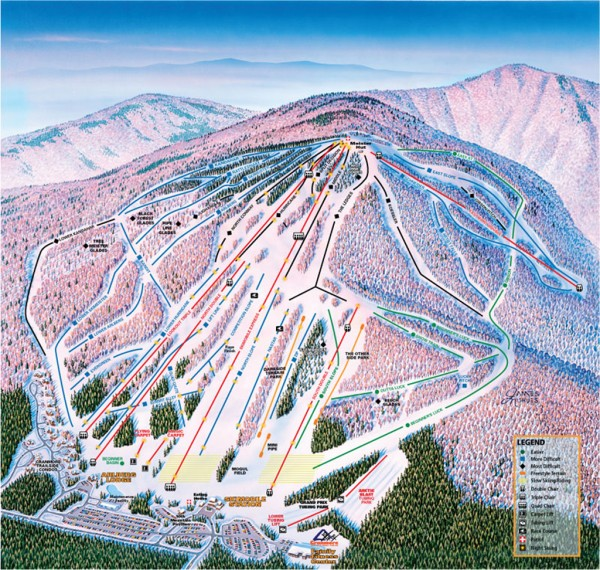 Cranmore Ski Trail Map