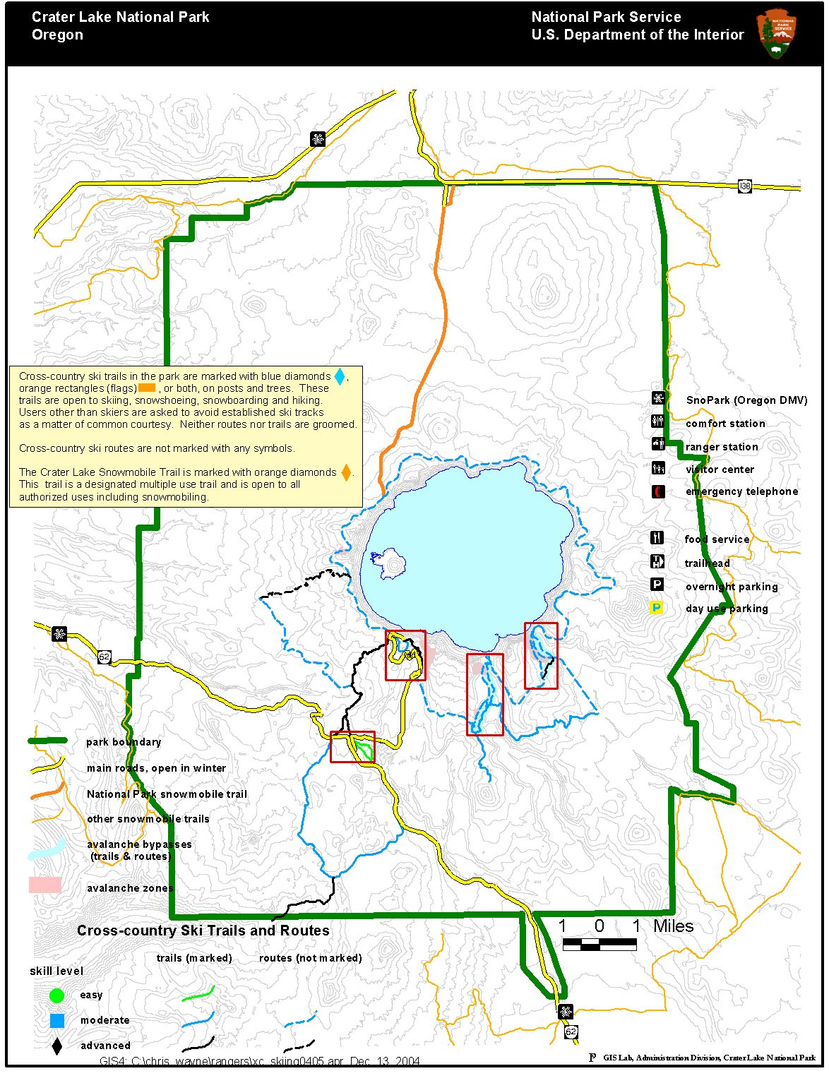 crater lake national park map crater lake national park mappery