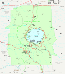 Crater Lake National Park official map