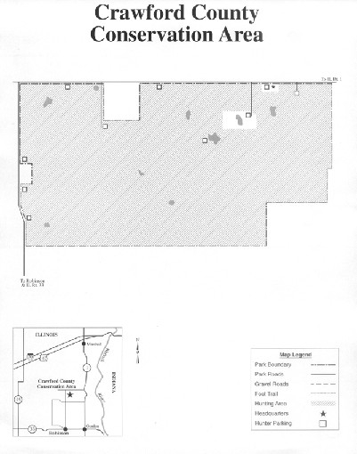 Crawford County, Illinois Site Map