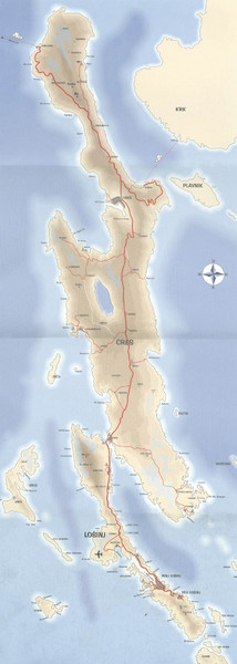 Cres Island Map