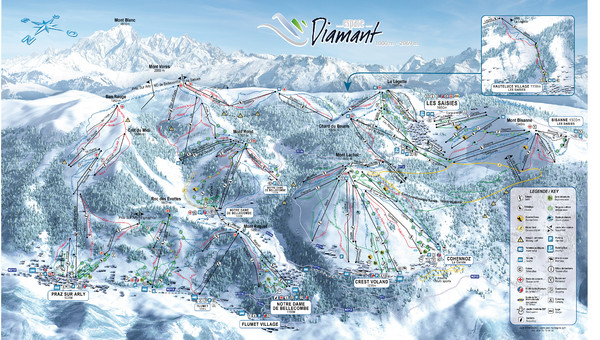 Crest Voland Ski Trail Map