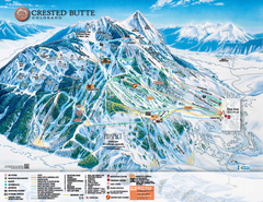 Crested Butte Mountain Resort Ski Trail Map