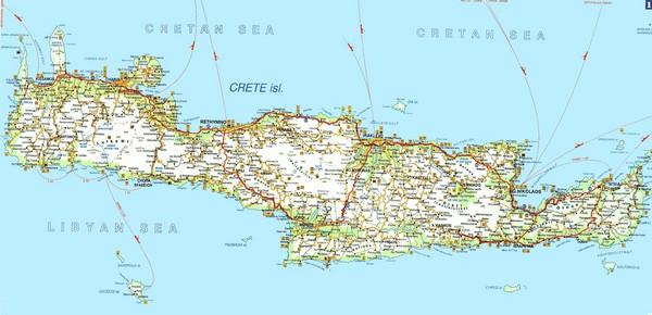 Crete Road Map Crete Mappery