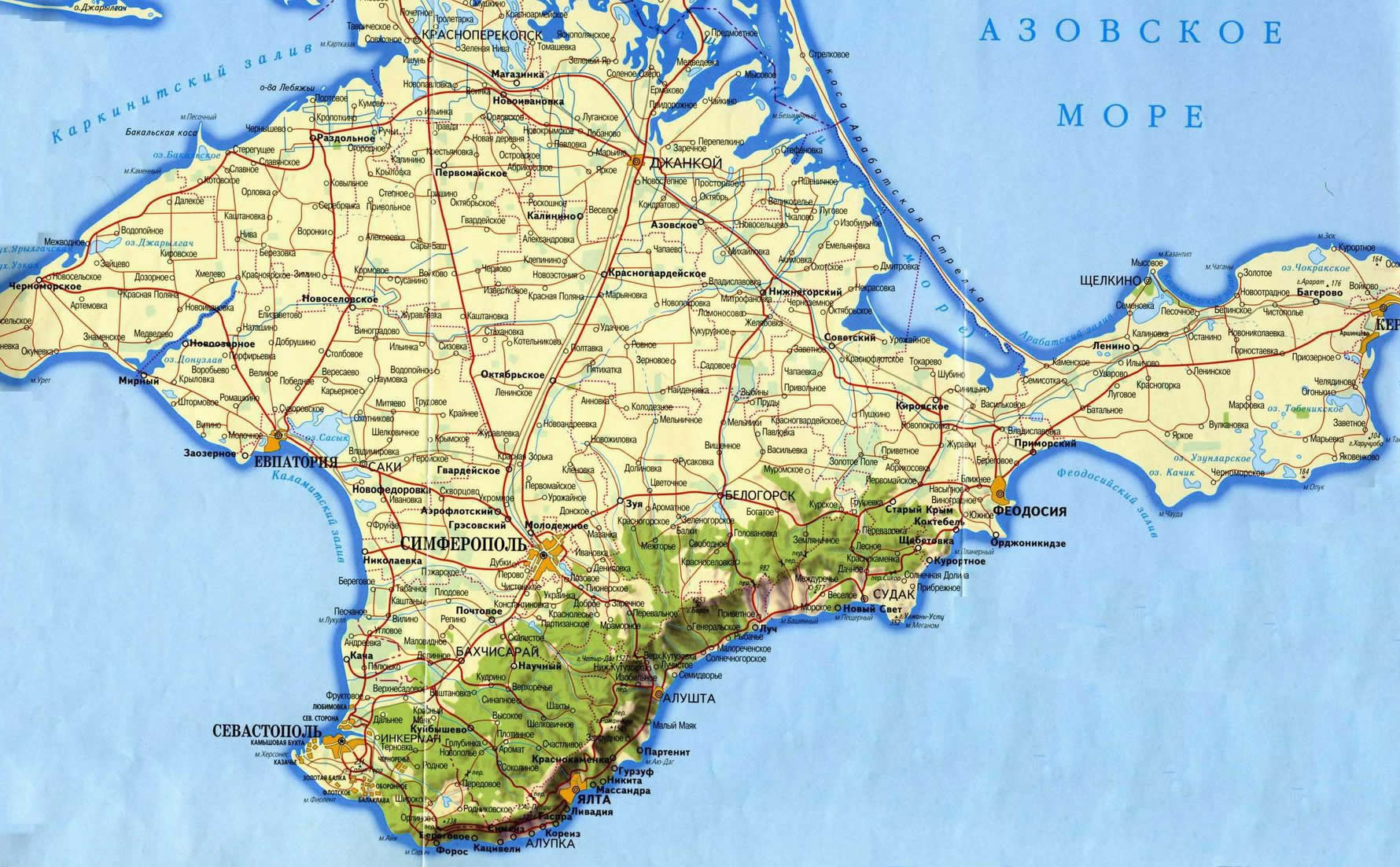 Crimea Ukraine Map