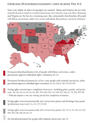 Criminal Disenfranchisement Laws in the U.S. Map