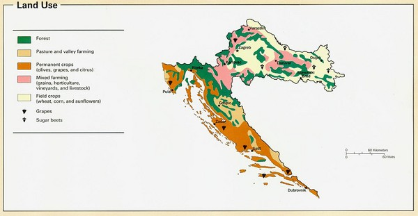 Croatia Land Use Map