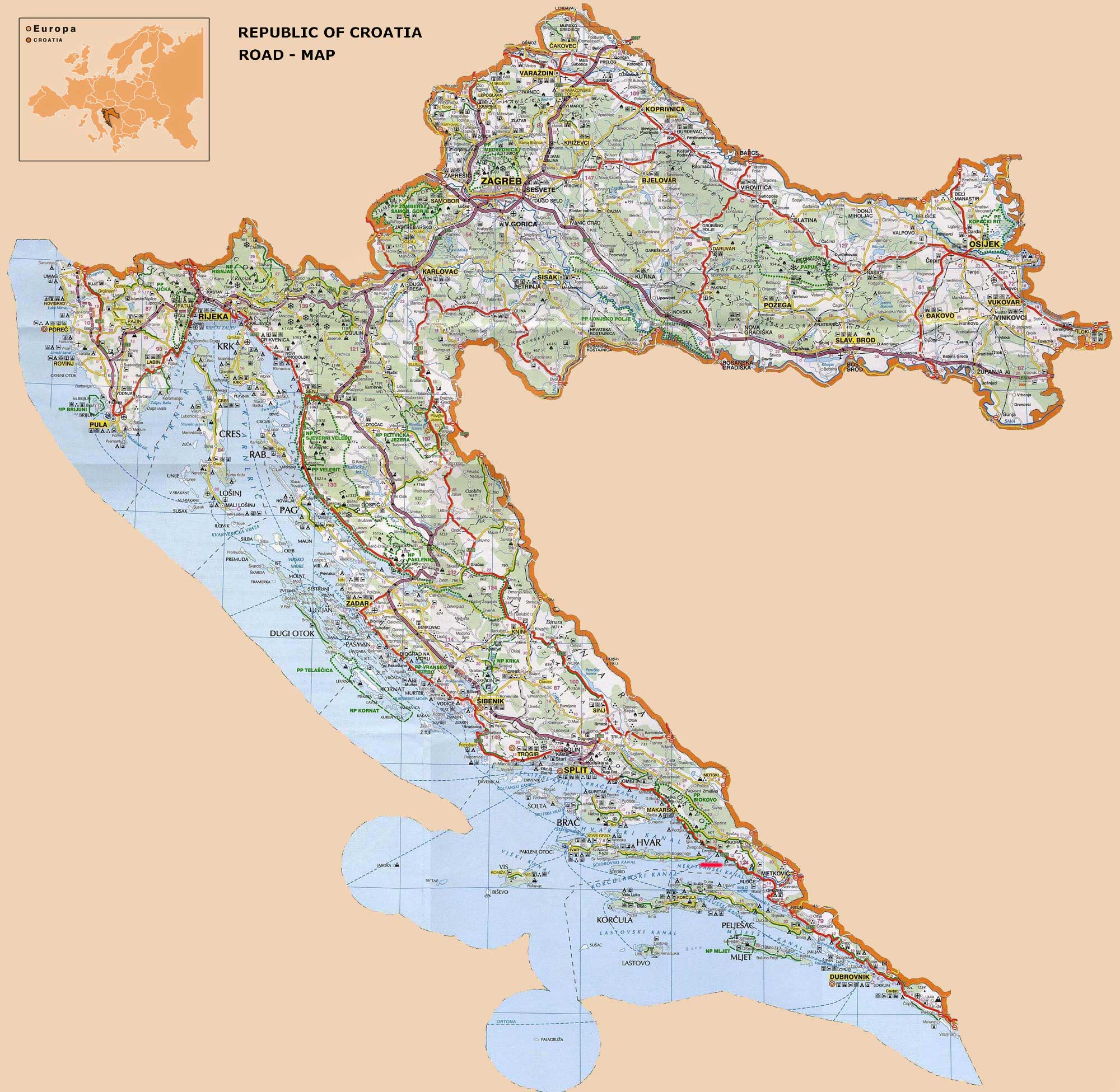 Croatia Road Map