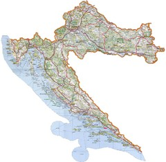 Croatia Tourist Map