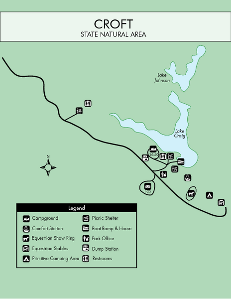 Croft State Park Map