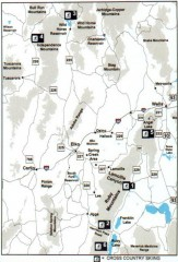 Cross-country Skiing, Elko County, Nevada Map
