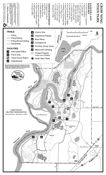 Crow Wing State Park Map