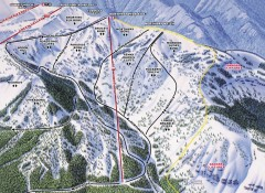 Crystal Mountain Ski Trail Map - Northway Area