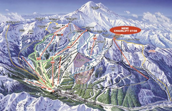 Crystal Mountain Ski Trail Map