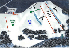 Crystal Ridge Ski Area Ski Trail Map