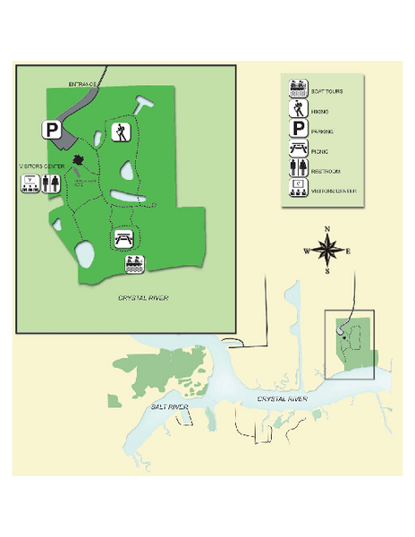 Crystal River Archeological State Park Map
