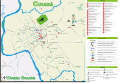 Cuiaba Tourist Map