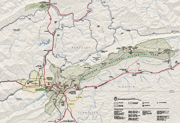 Cumberland Gap National Historical Park Official Map