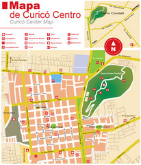 Curico Center Tourist Map