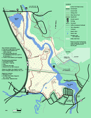 Cutler Park Reservation trail map