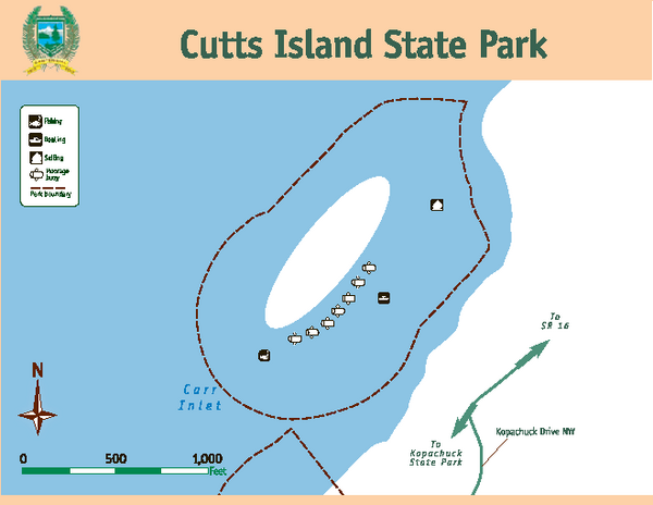 Cutts Island Stay Park Map