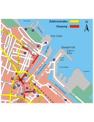 Cuxhaven Center Tourist Map