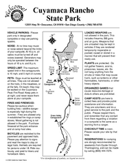 Cuyamaca Rancho State Park Campground Map