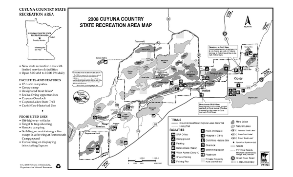 Cuyuna Country State Recreation Area Map
