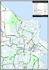 Cycling routes to UVic Map
