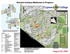 Cypress College Campus Map