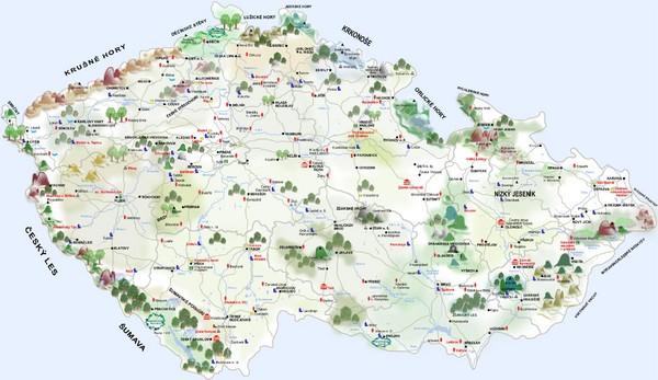 Map Of German Castles.Czech Republic Castle Map Czech Republic Mappery