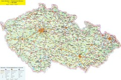 Czech Republic Road Map