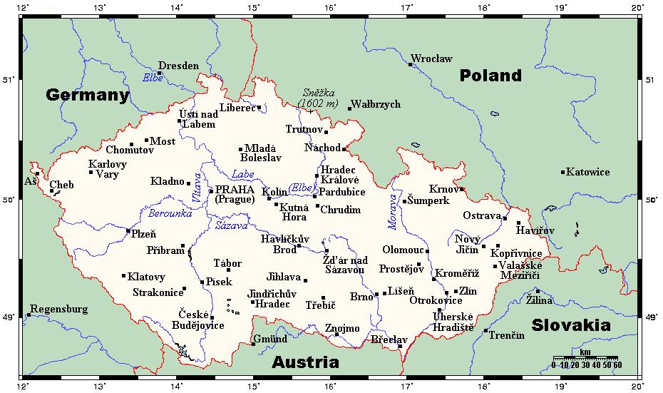 Czech Republic Tourist Map Czech Republic Mappery - Czech republic map