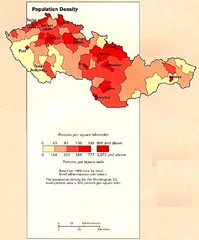 Czechoslovakia Population Density Map