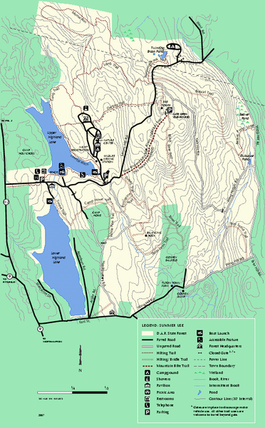 DAR State Forest summer map