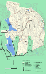 DAR State Forest winter map
