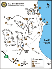 D.L. Bliss State Park Campground Map