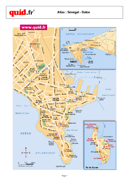 Dakar Map - Dakar Senegal • mappery on