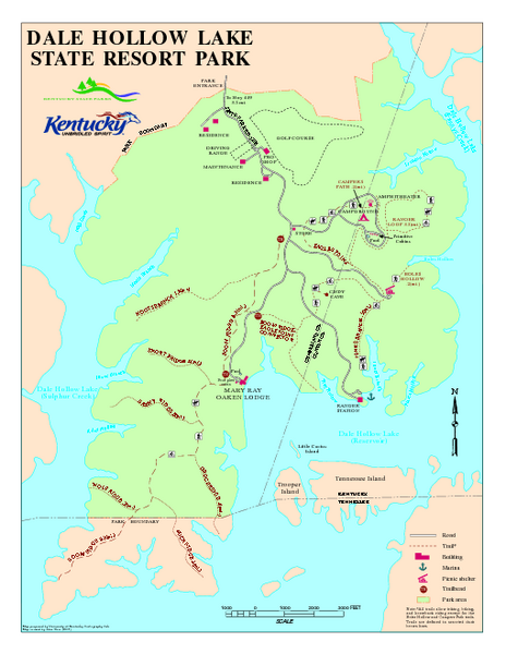 Dale Hollow Lake State Park Map