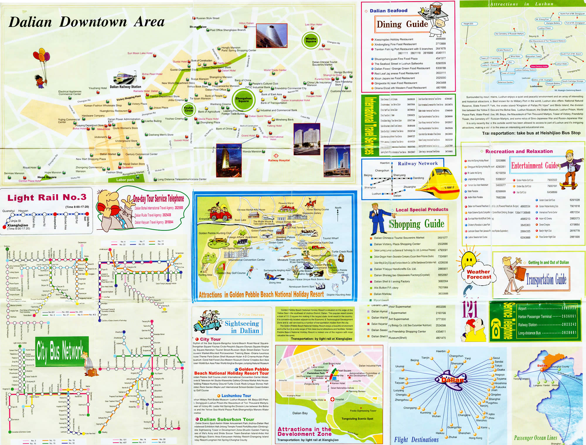 Dalian Tourist Map Dalian China mappery