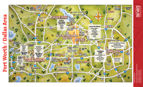 Texas maps mappery – Dallas Tourist Attractions Map
