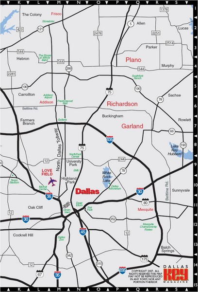 DallasFort Worth Metropolitan Area Map Dallas TX mappery