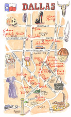Dallas shopping map for Lucky Magazine
