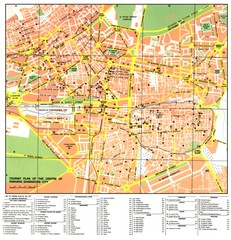 Damascus City Tourist Map