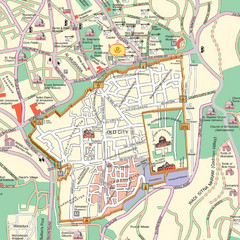 Damascus Tourist map