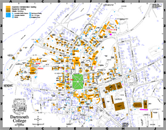 Dartmouth College campus map
