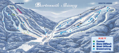 Dartmouth Skiway Ski Trail Map